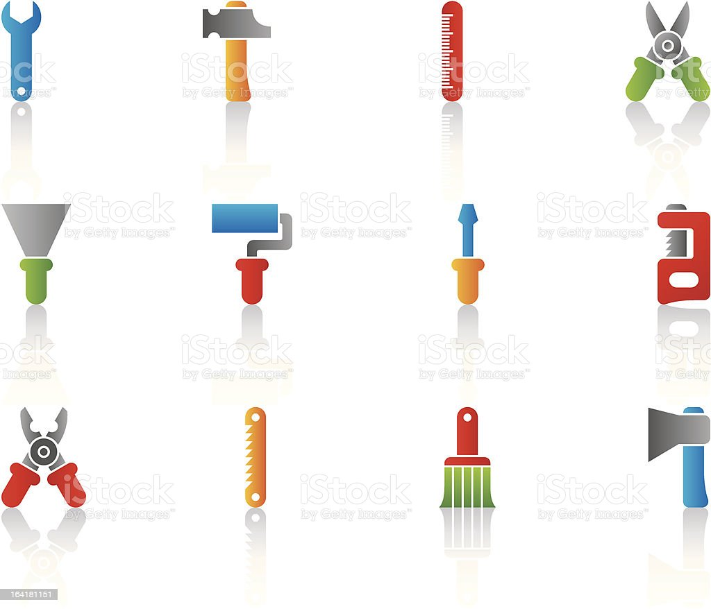 color construction tools icons royalty-free color construction tools icons stock vector art & more images of art and craft