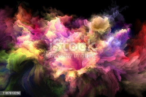 istock Color in motion, abstract painted background 1187610250