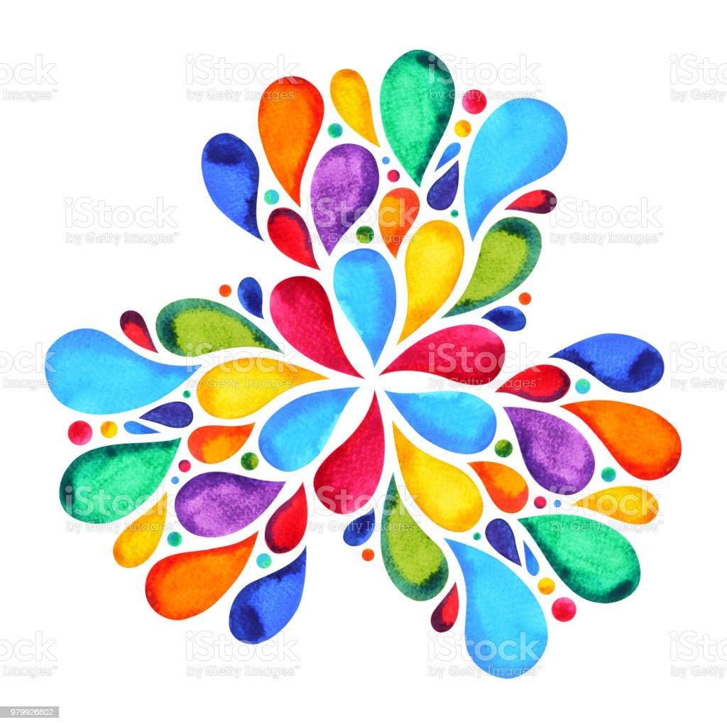 Ilustración de 7 Color Chakra Mandala Símbolo Del Concepto De Flor ...