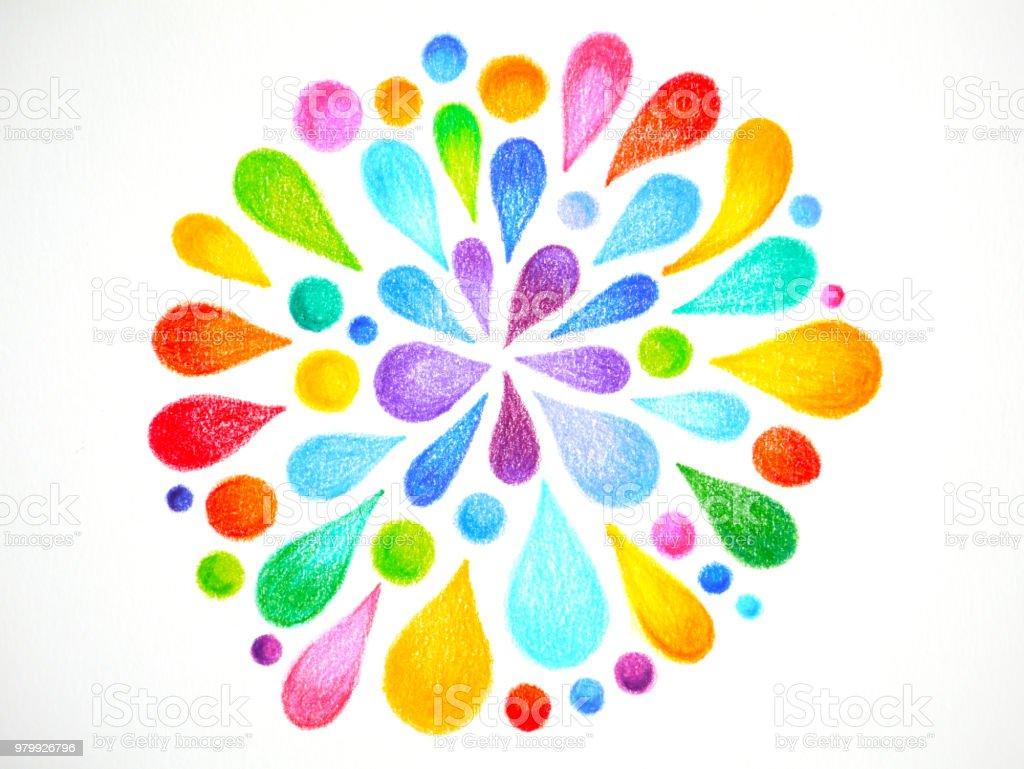 Ilustración De 7 Color De Chakra Mandala Símbolo Icono Concepto Flor
