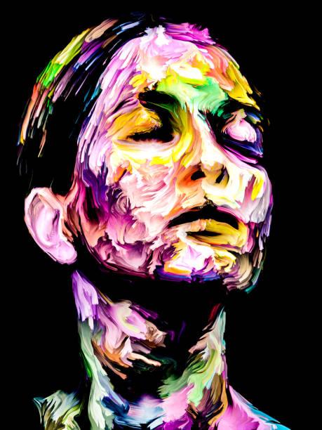 Color Paint Portrait vector art illustration