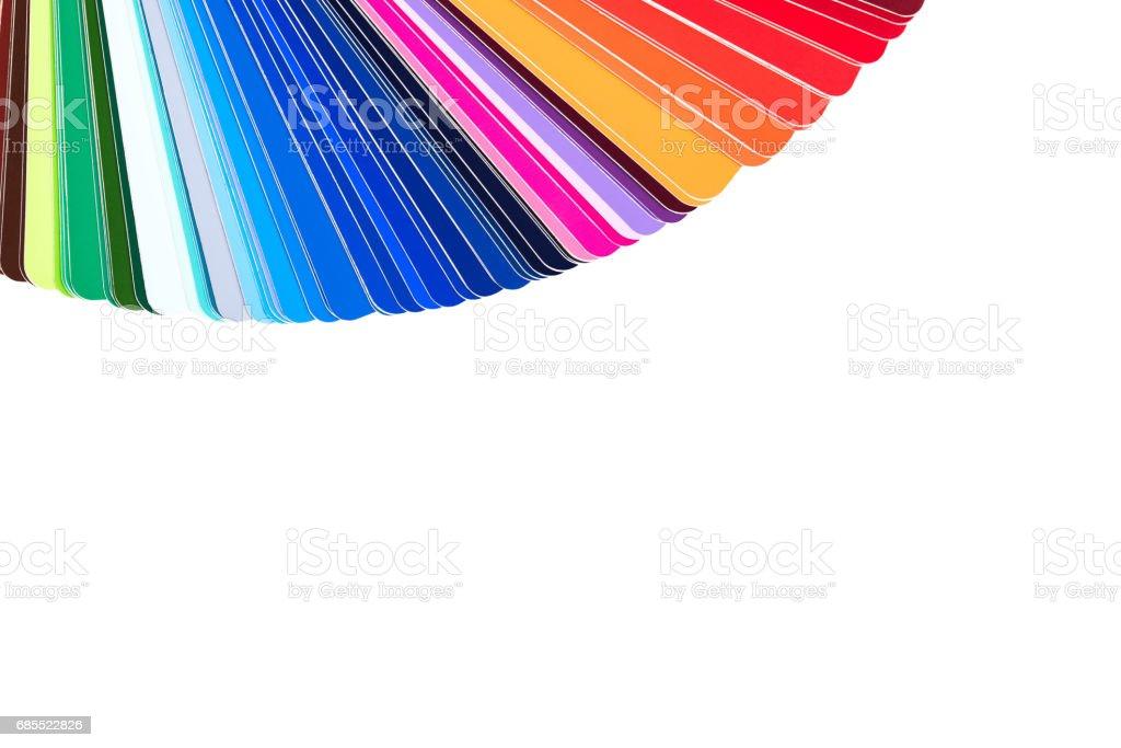 Palette De Couleurs, Catalogue Couleur, Guide Des échantillons De Peinture  Isolé Sur Fond Blanc