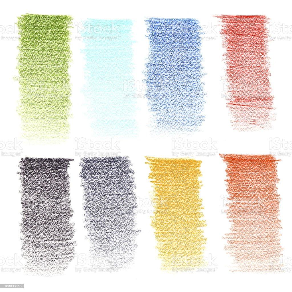 Color pencil texture royalty-free stock vector art