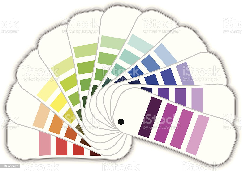Color samples royalty-free stock vector art