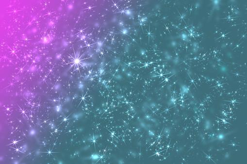 Color Space Stars Constellation Defocused Pattern Wallpaper