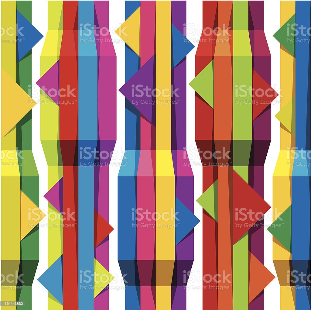 Color tapes seamless pattern. royalty-free stock vector art