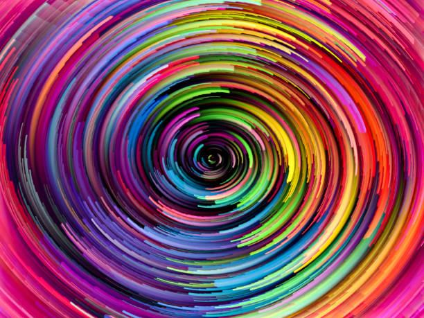 Color Wheel Swirl vector art illustration