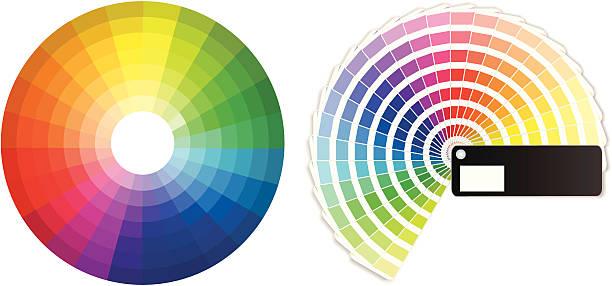 ilustrações, clipart, desenhos animados e ícones de cor de rodas - amostra de cor