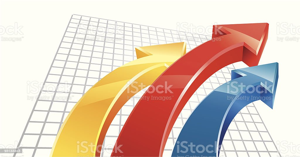 Colored Arrows royalty-free colored arrows stock vector art & more images of achievement