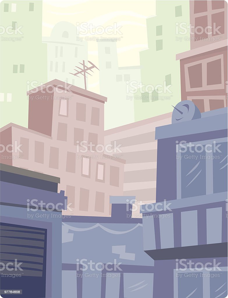 Colored Buildings royalty-free stock vector art