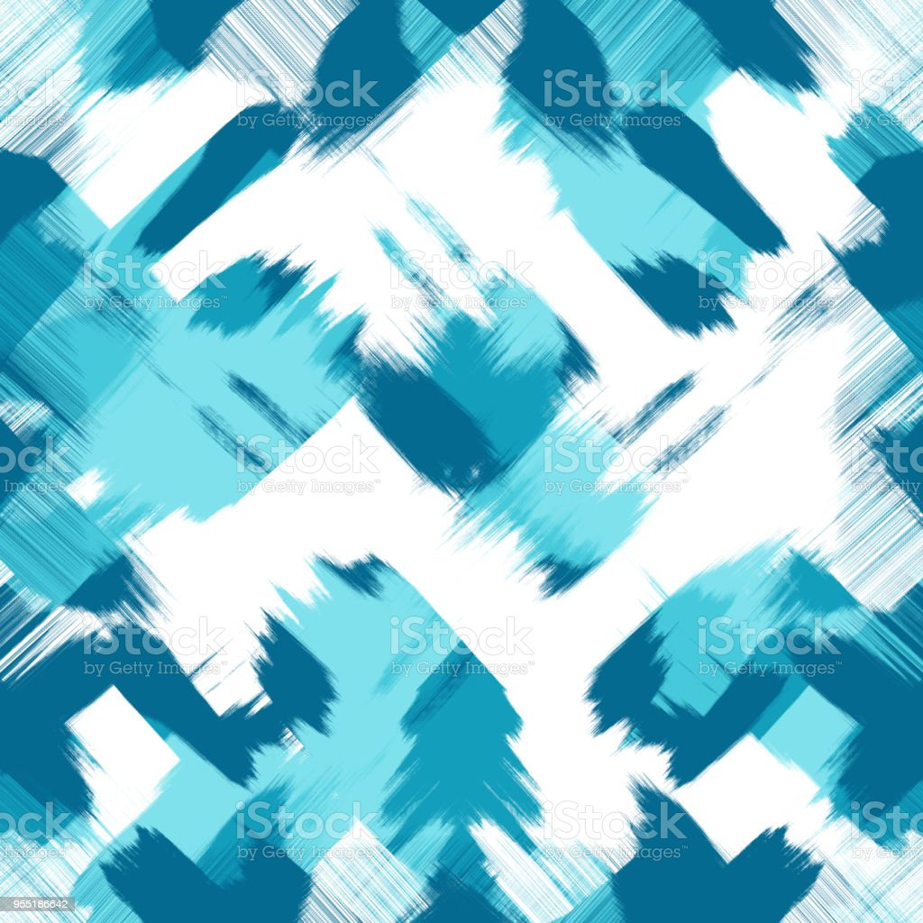 Abstract Plan Chaotique Des Traits Bleus Bleu Vert Sur Fond