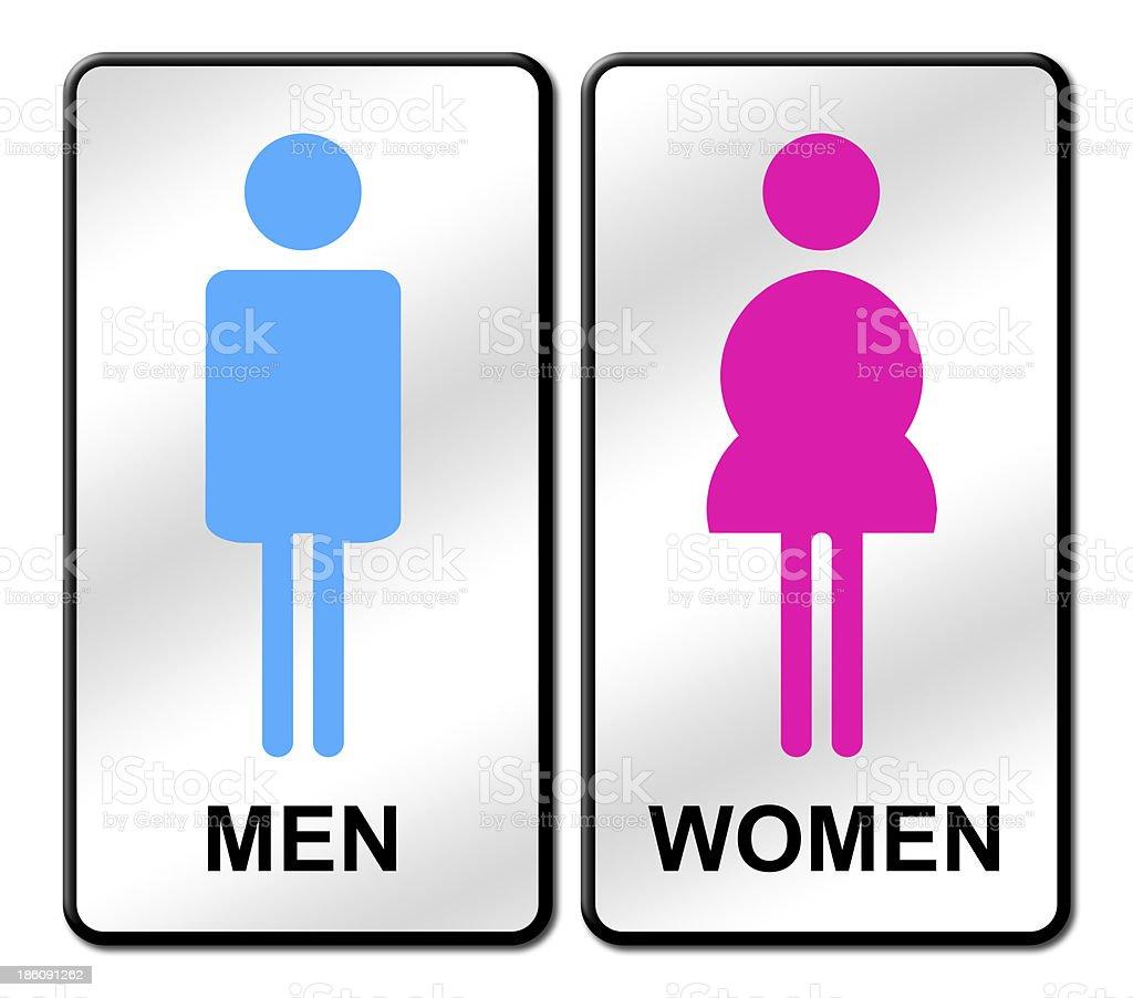 Hombre de color mujer se al de lavabo illustracion libre - Ragazze al bagno ...