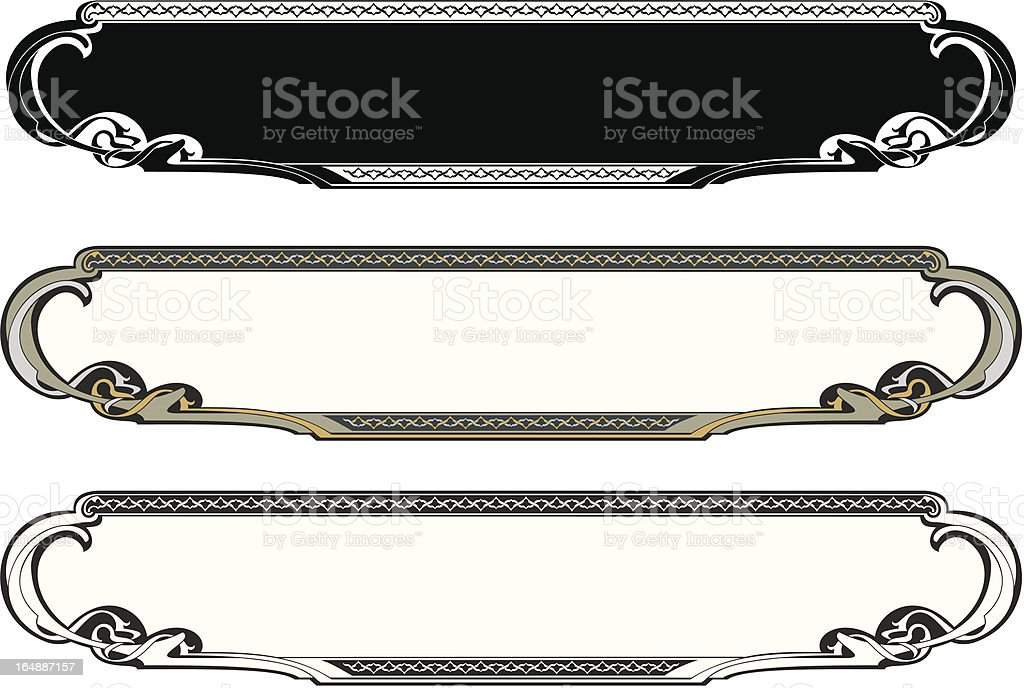 Colored Ornamental Panel I (Vector) royalty-free colored ornamental panel i stock vector art & more images of art