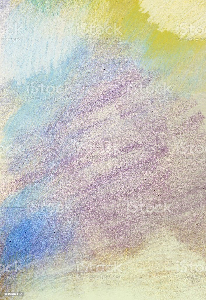 Colored Pencil and Crayon on Paper Background vector art illustration