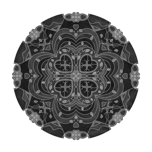 Effets de crayon de couleur. illustration mandala. - Illustration vectorielle