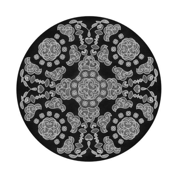 Effets de crayon de couleur. Mandala d'illustration - Illustration vectorielle