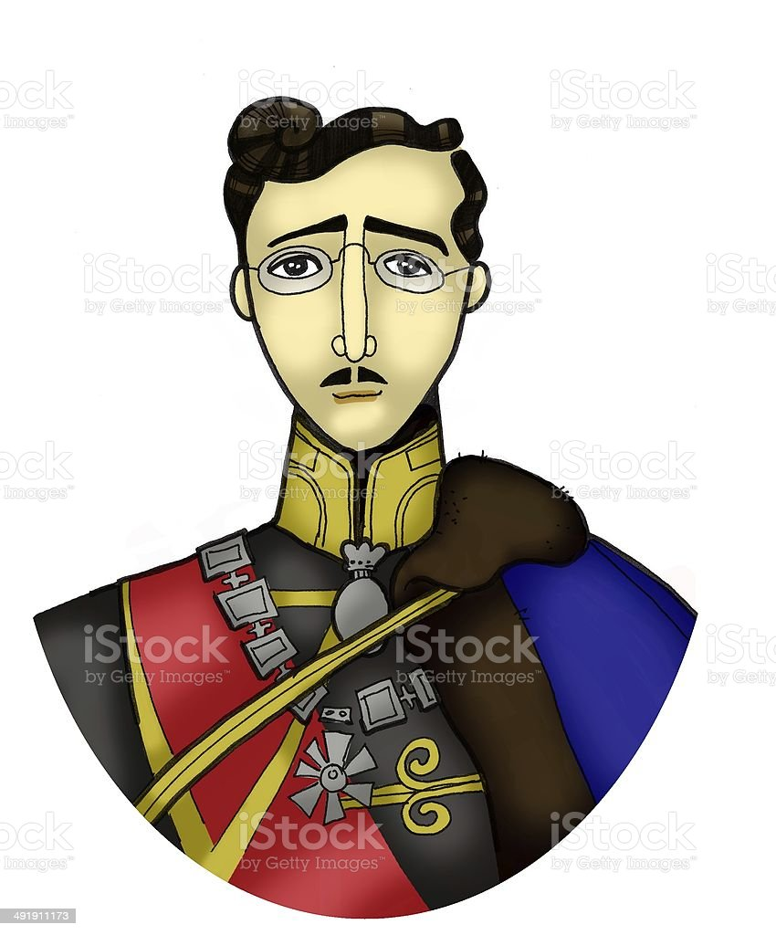 Colored portrait of a man royalty-free stock vector art