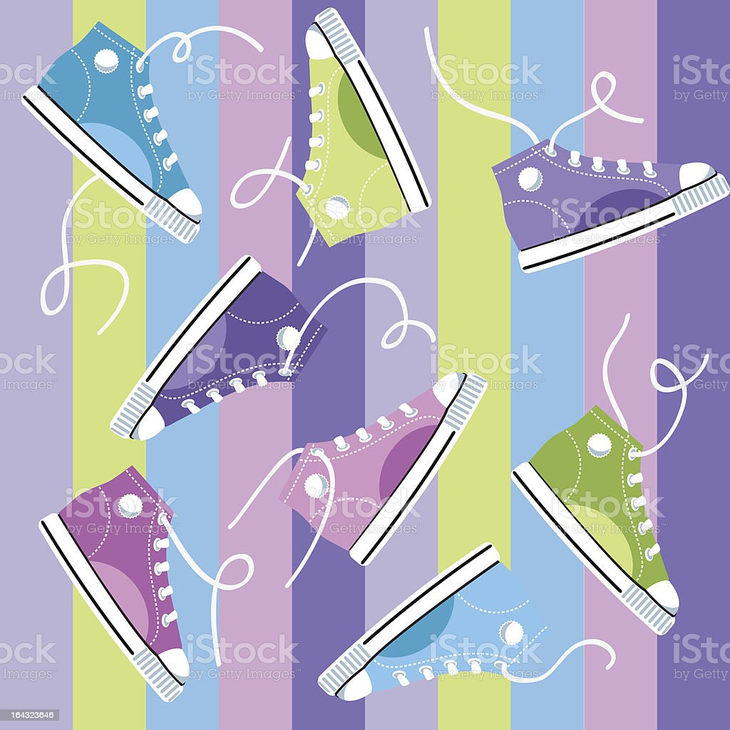 Colored sport shoes
