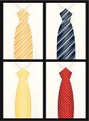Colored tie set