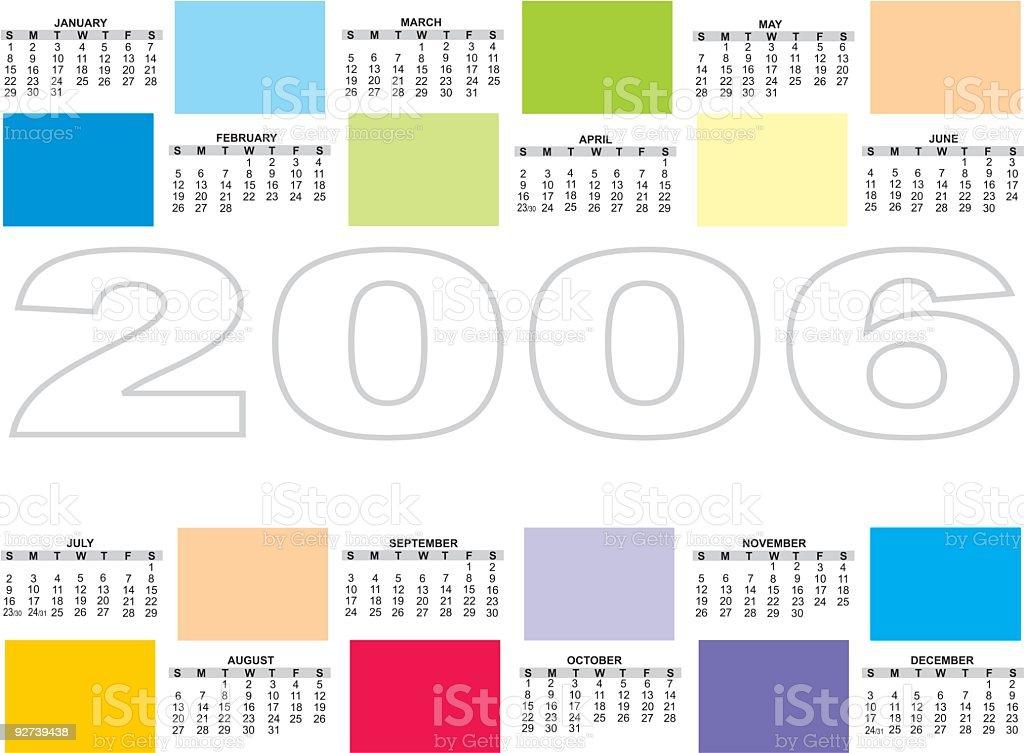 Colorful 2006 calendar (vector) royalty-free stock vector art