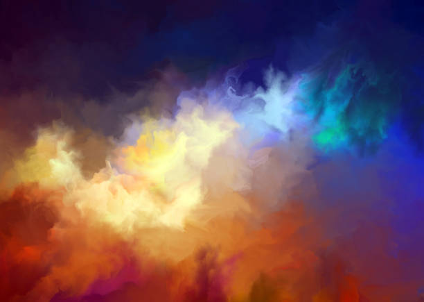 colorful art cloud background vector art illustration