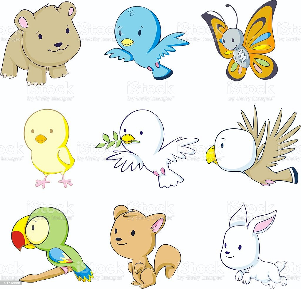 Colorful Baby Animals royalty-free colorful baby animals stock vector art & more images of animal