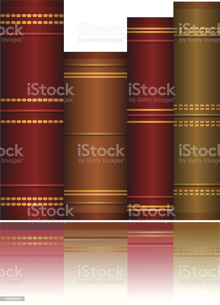 Colorful Books vector art illustration