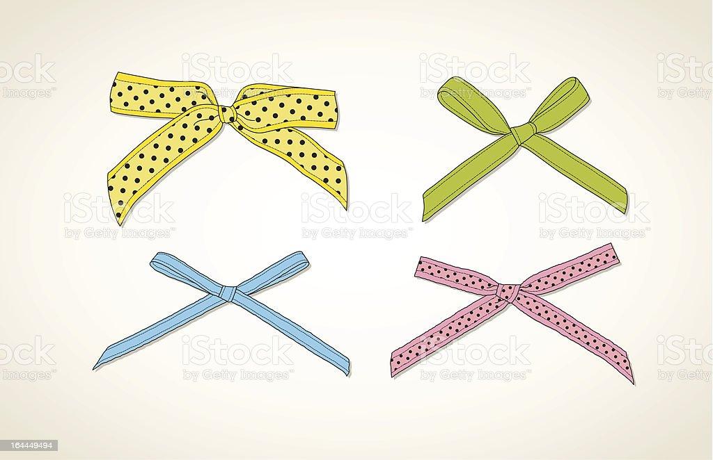 Colorful bows set royalty-free stock vector art