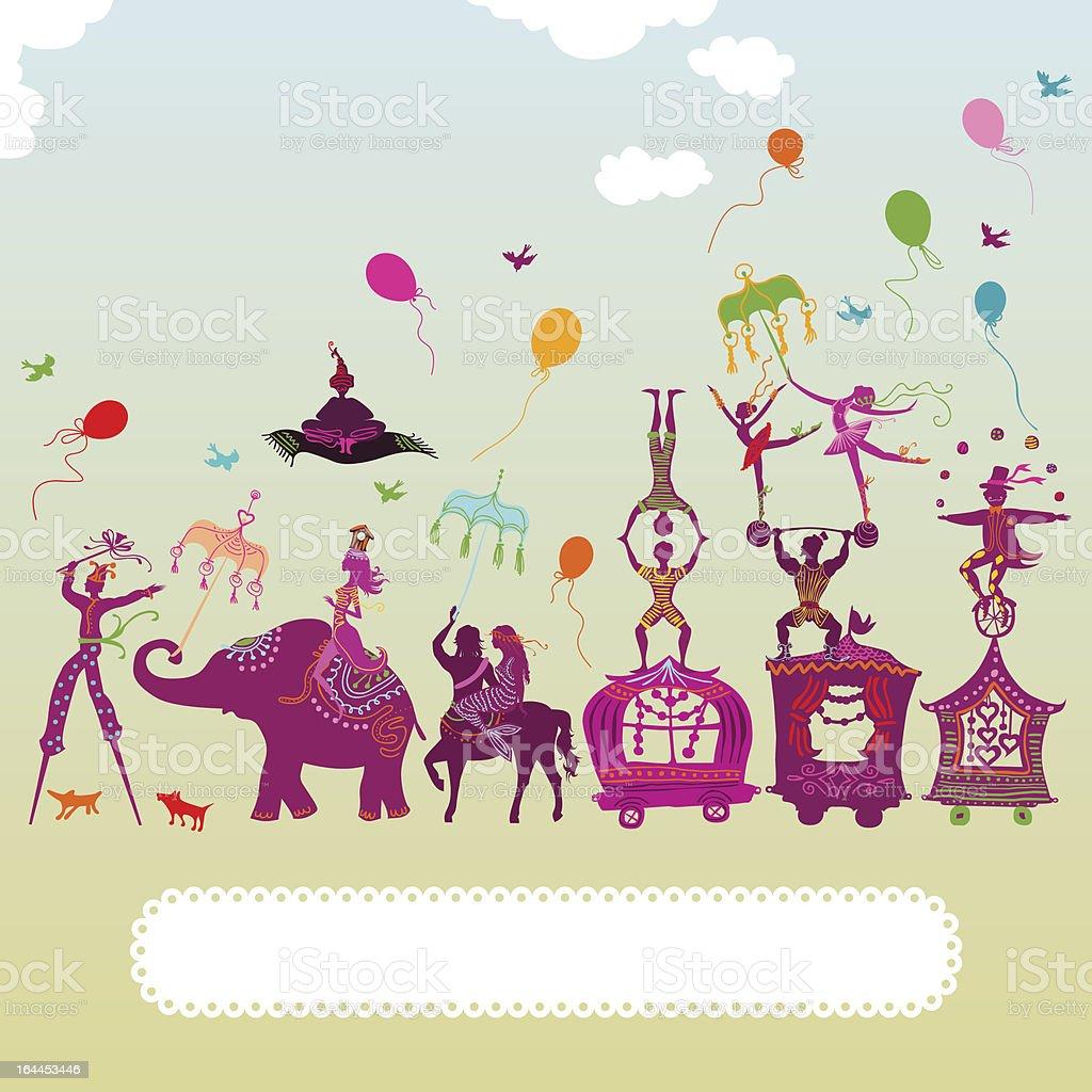 colorful circus carnival vector art illustration
