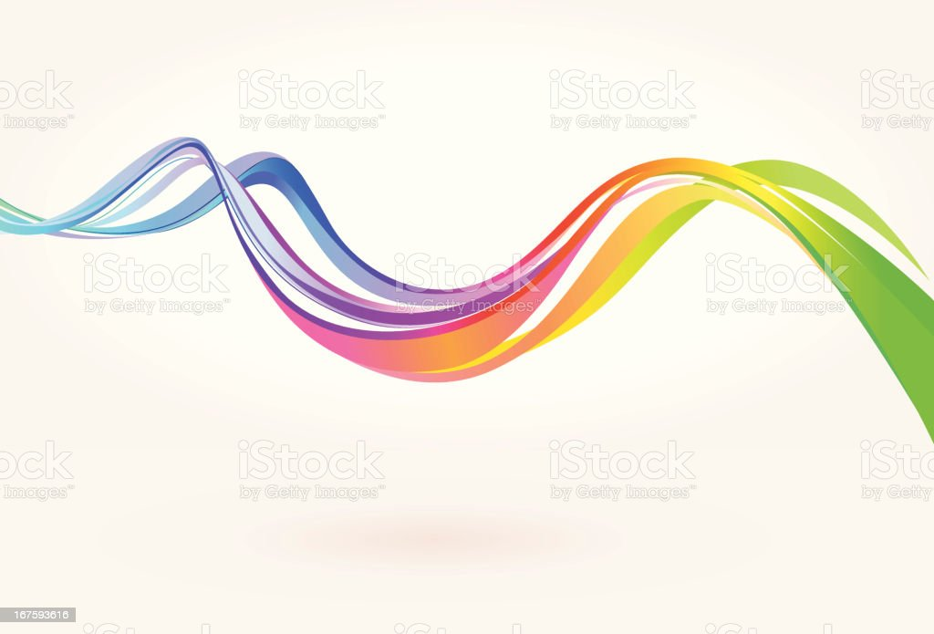 Colorful Curve Background vector art illustration