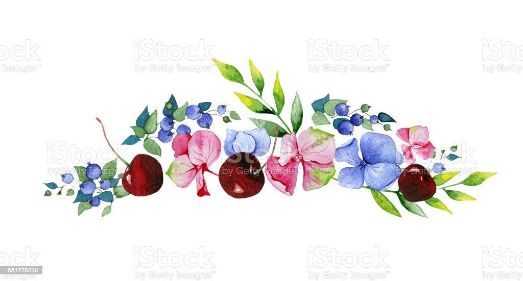 Ilustración de Colección Floral Colorido Con Flores Multicolores ...