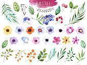 カラフルな花柄のコレクションにマルチカラーの花柄