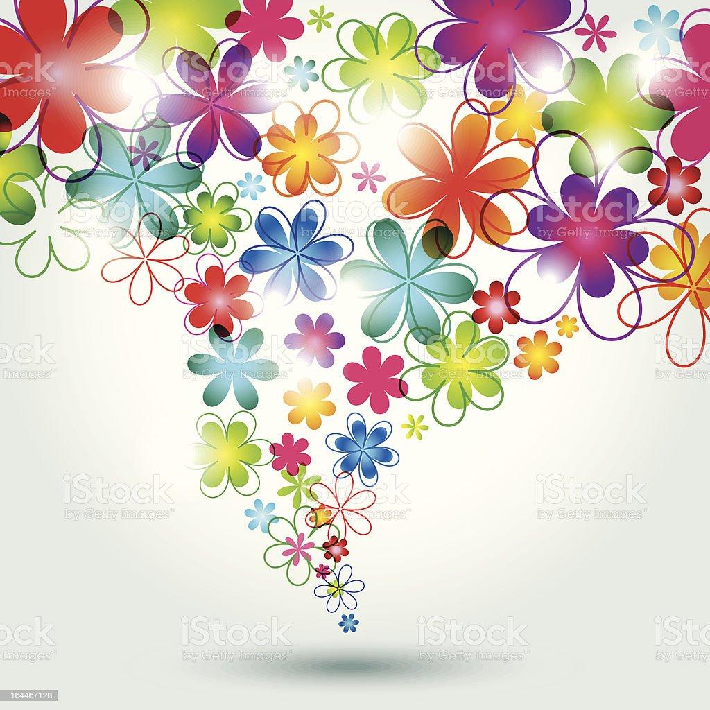 カラフルな花の背景 のイラスト素材 164467128   istock