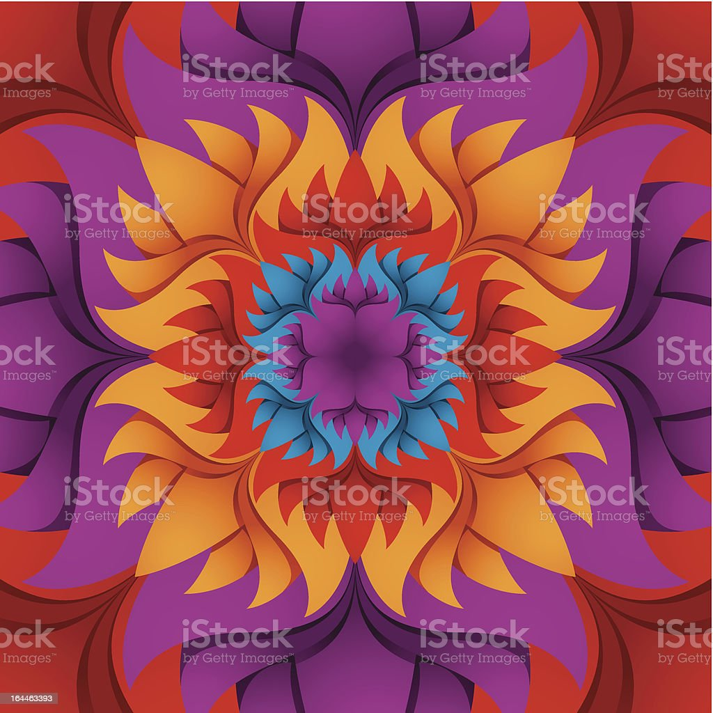 Colorful flower kaleidoscope background. royalty-free colorful flower kaleidoscope background stock vector art & more images of backdrop