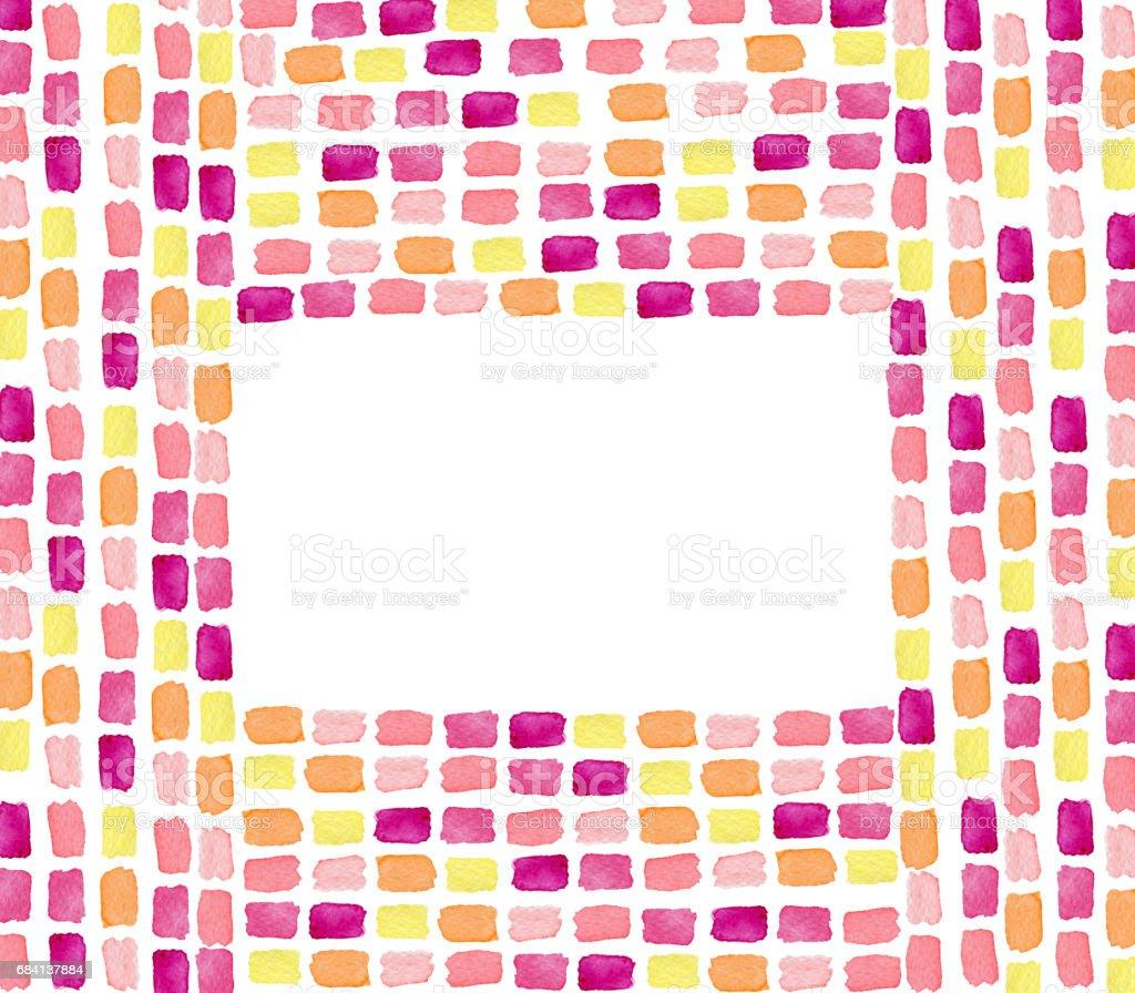 Kleurrijke badrand van handgetekende penseelstreken te wijzigen royalty free kleurrijke badrand van handgetekende penseelstreken te wijzigen stockvectorkunst en meer beelden van abstract