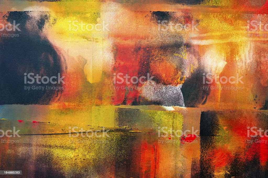 Colorful horizontal abstract vector art illustration