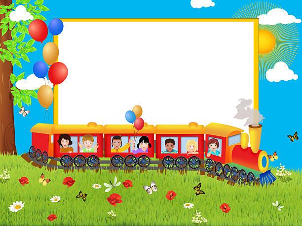 colorful illustration of happy children vector art illustration
