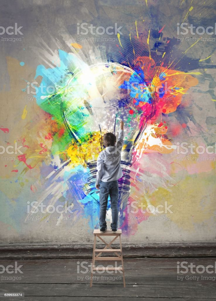 Colorful imagination vector art illustration