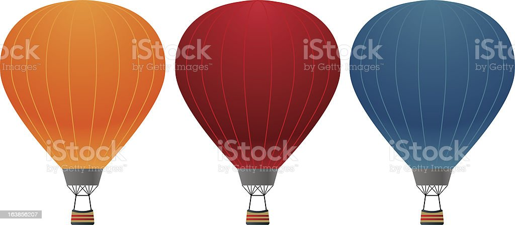 colorful infalatable hot air balloons vector art illustration