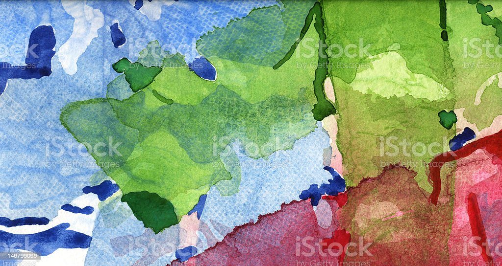 Colorful Mixed Media Background vector art illustration