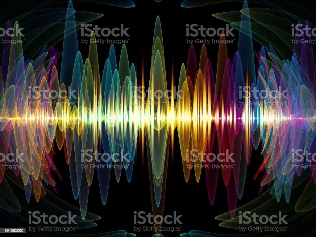 Oscilação colorida - Ilustração de Abstrato royalty-free