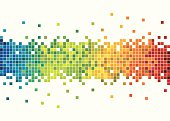 Vector of colorful pixels.