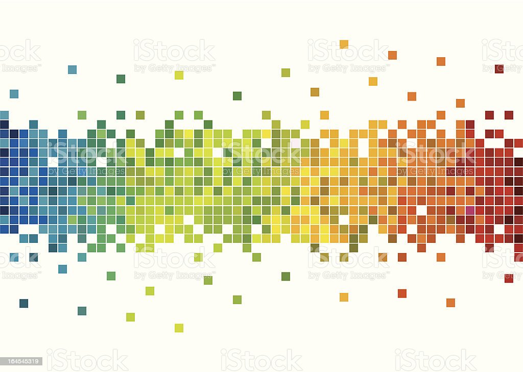 Colorful pixels vector art illustration