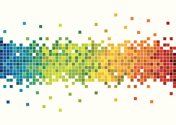 ilustraciones, imágenes clip art, dibujos animados e iconos de stock de colorido píxeles - fondos mosaicos