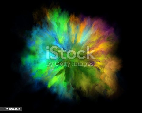 1140073628 istock photo colorful rainbow holi paint color powder explosion isolated black background 1164883892