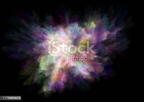1140073628 istock photo colorful rainbow holi paint color powder explosion isolated black background 1175680629