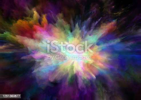 1140073628 istock photo colorful rainbow holi paint color powder explosion isolated black background 1251360877
