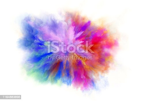 1140073628 istock photo colorful rainbow holi paint color powder explosion isolated white background 1164883895