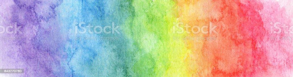 Colorido fondo de acuarela arco iris - textura abstracta - ilustración de arte vectorial