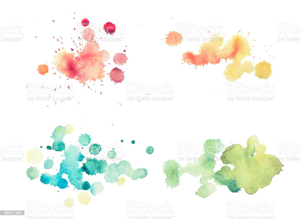 colorful retro vintage abstract watercolour aquarelle art hand paint on white background 免版稅 colorful retro vintage abstract watercolour aquarelle art hand paint on white background 向量插圖及更多 俄羅斯 圖片